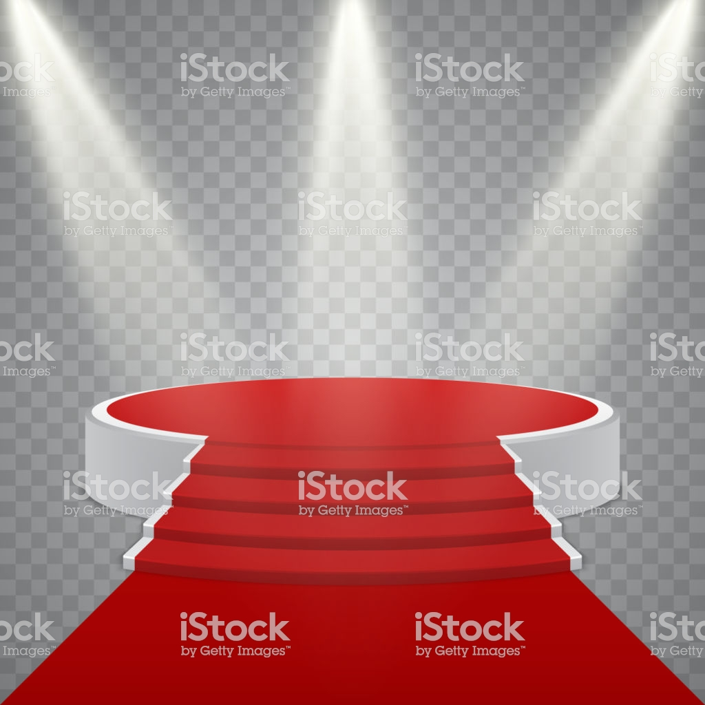 tapis rond rouge