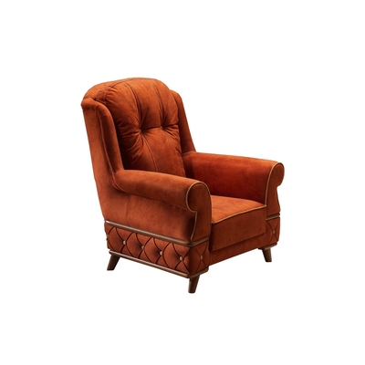 fauteuil tissu rouge