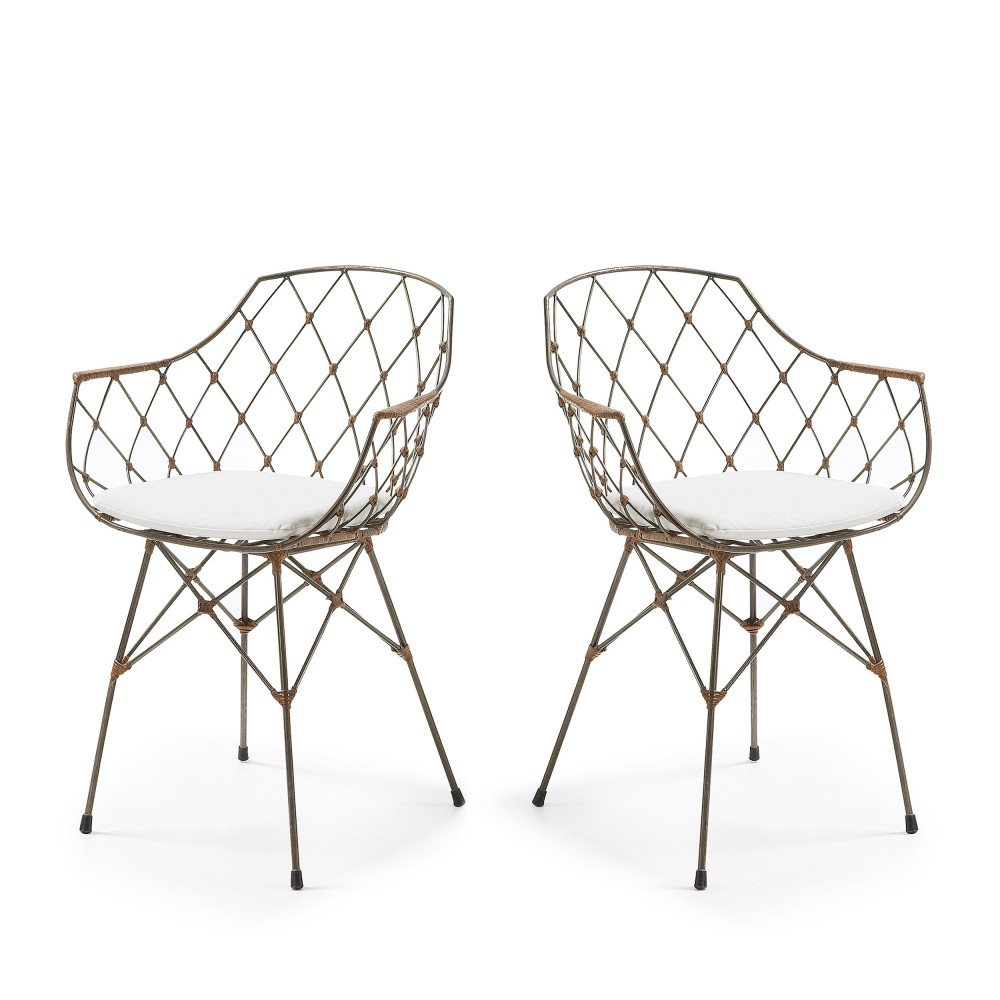chaises modernes blanches