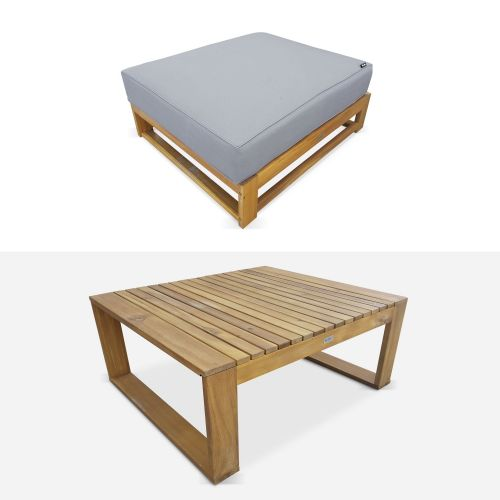 petite table basse grise
