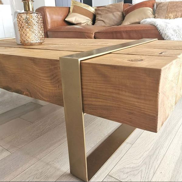 table basse pied bois