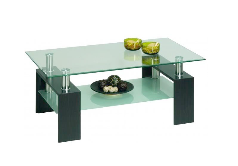 table basse verre rectangulaire design