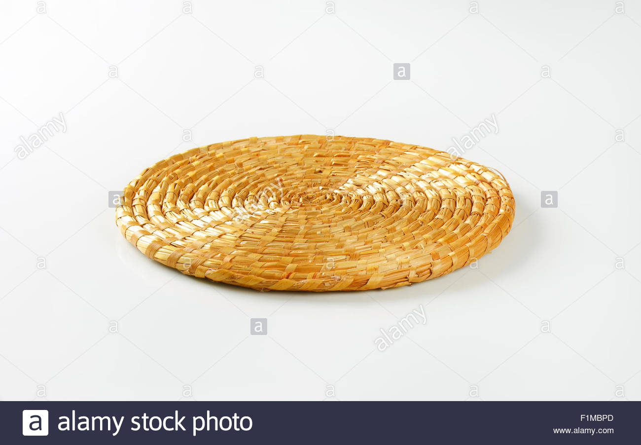 tapis paille rond