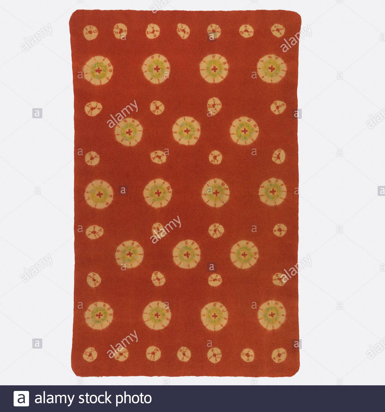 tapis rectangulaire rouge