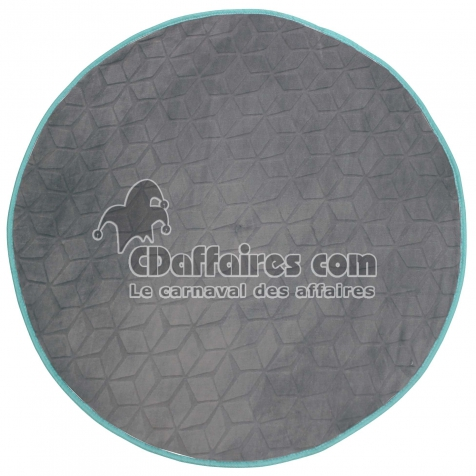 tapis turquoise rond