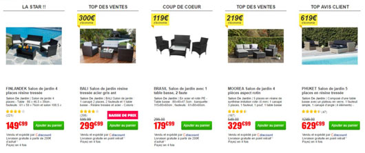 discount salon de jardin