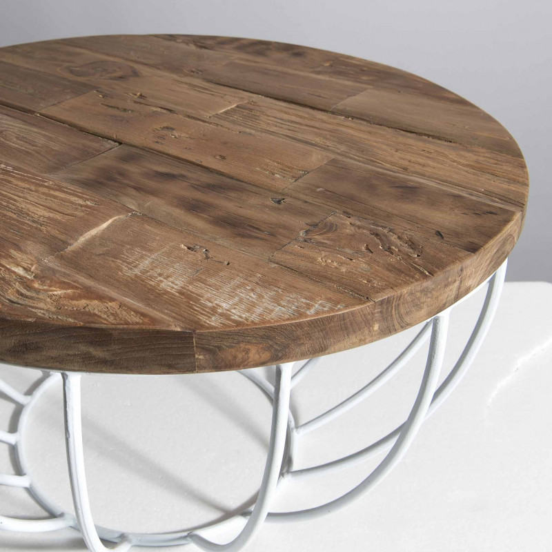 table basse ronde blanche