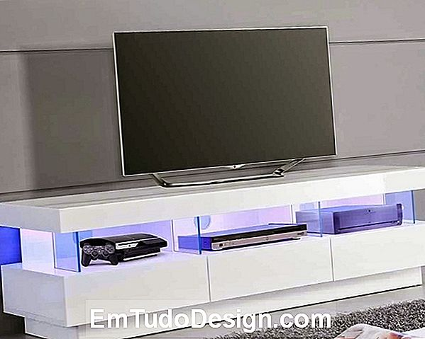 meuble tv suspendu led