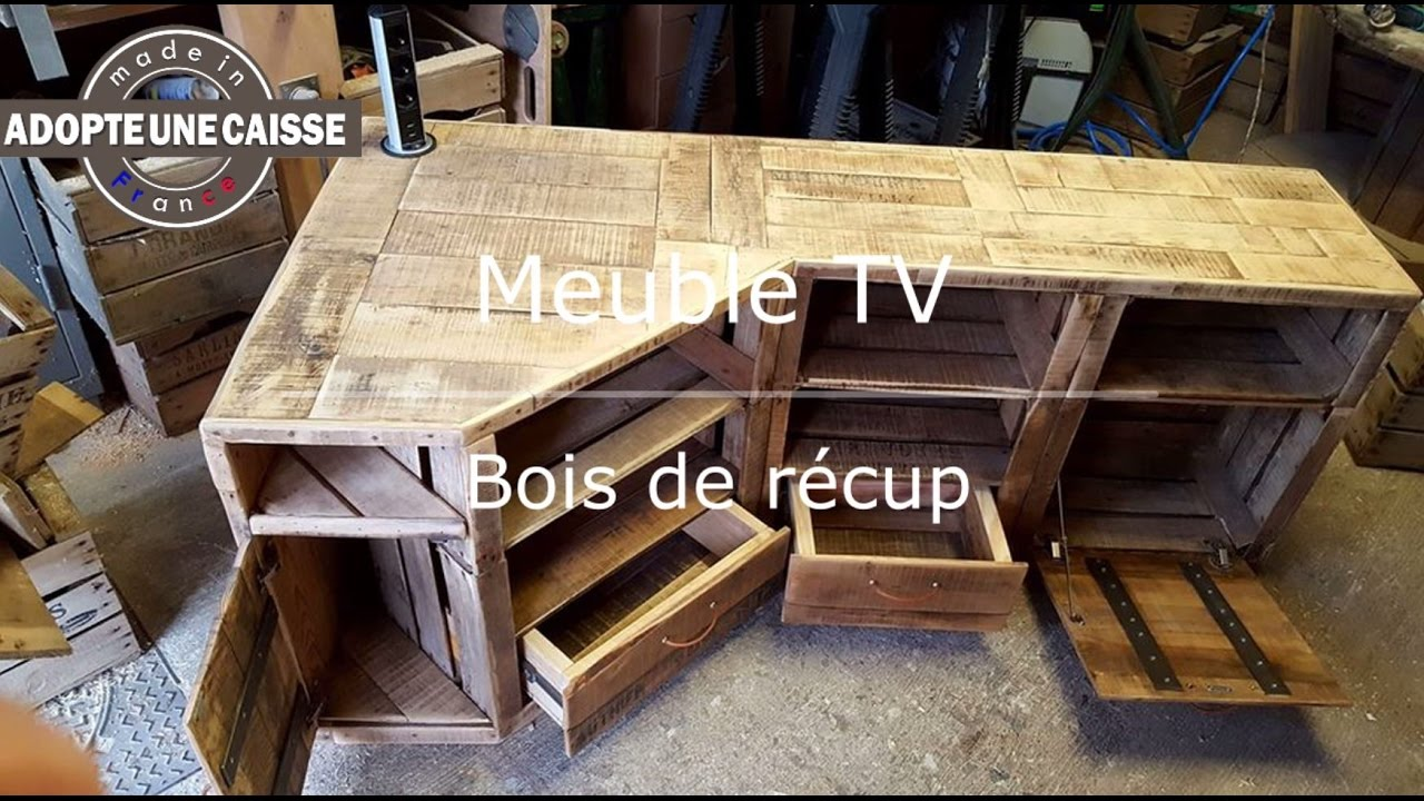 support tv bois