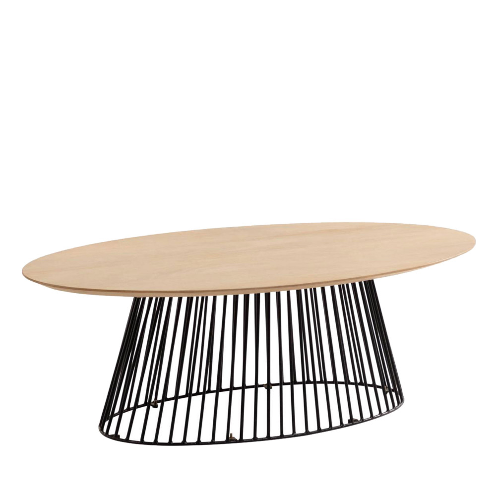 table basse ovale design
