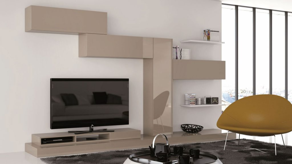 meuble tv taupe