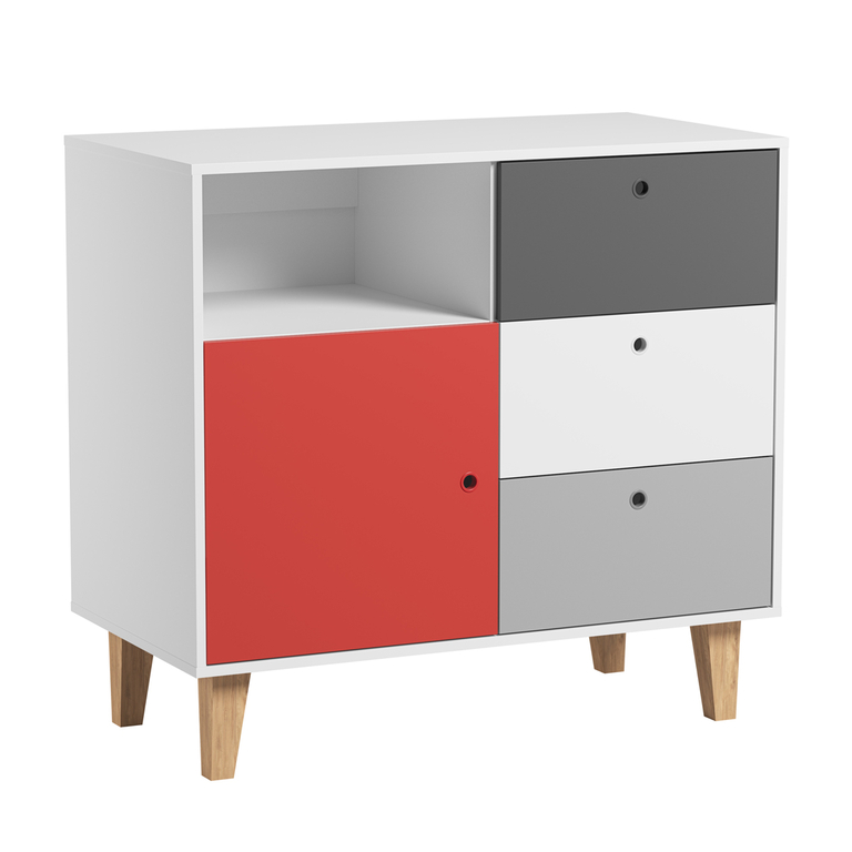commode rouge