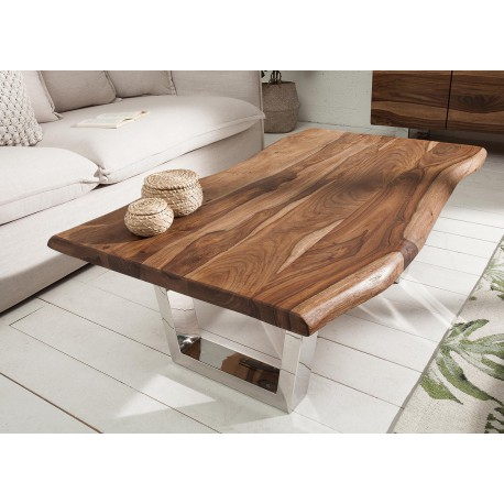 table basse bois rectangulaire