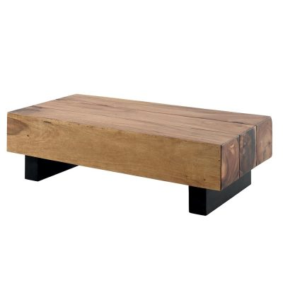 table basse rectangulaire bois massif